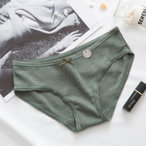 Women Bikini Cotton Panties Briefs Underwear Thread Thongs Lingerie Bow