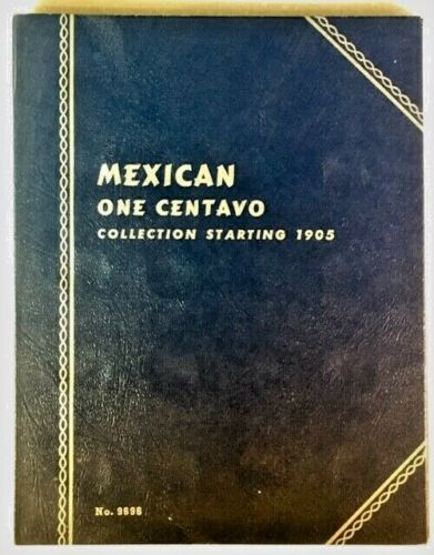 WHITMAN MEXICAN ONE CENTAVO 1905-1962 PLUS 12 BLANK PORTS #9696