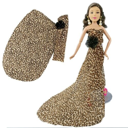 """Leopard Fashion Doll Dress For 11.5/"""" 1//6 Doll Clothes Outfits Gown Party Dresses"""