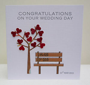 Personalised Wedding Card Congratulations On Your Wedding Day Ebay