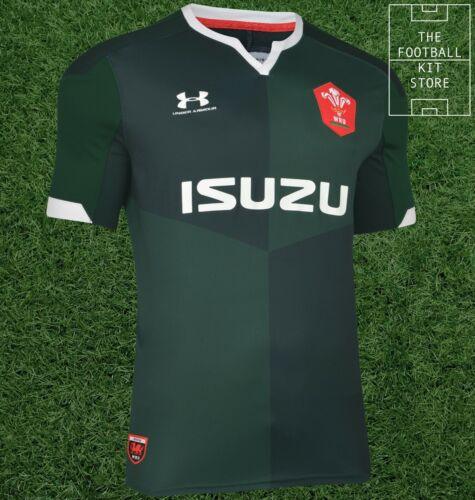 Mens All Sizes UA Welsh Rugby Jersey Under Armour Wales Away Rugby Shirt
