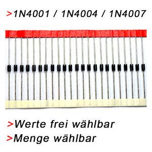 1N4001-1N4004-1N4007-FREIE-AUSWAHL-VON-MENGE-ART-Diode-Dioden-Rectifier