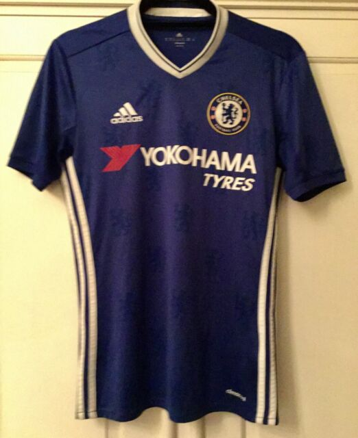 Adidas Chelsea FC Home Jersey 2016 2017 Mens Royal Football Soccer Top Shirt XS