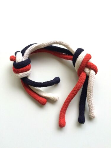 PATRIOTIC MULTICOLOR 3 ROPES Magic Trick Knot Blend Red White Blue USA Beginner