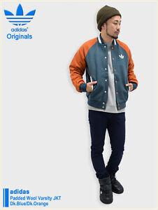 Details zu BB BNWT Men's Adidas Originals Padded Wool Varsity Coat Down Jacket S XL