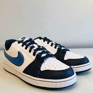 * Entièrement Neuf Dans Sa Boîte * Nike Panneau Ii Bleu Blanc Cuir Baskets Uk 5   38 Euros   Us 5.5 Y-afficher Le Titre D'origine