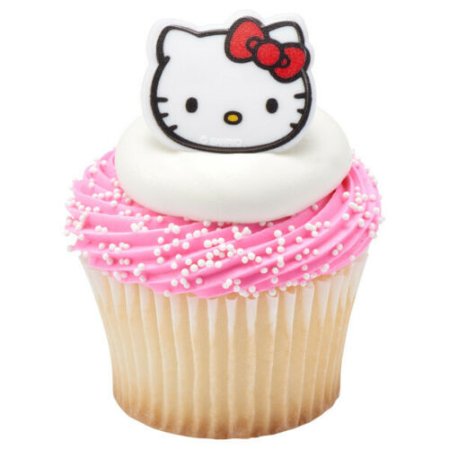 New Hello Kitty Cupcake Rings One Dozen