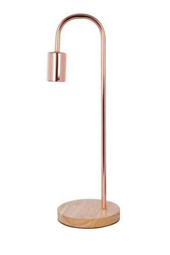 Cuivre lampe de chevet bois lampe de table lampe de lampe de chevet