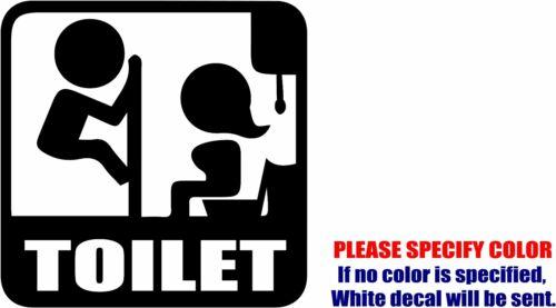 "Vinyl Decal Sticker Funny Toilet Restroom Sign #03 Car Car Truck JDM Fun 9/"""