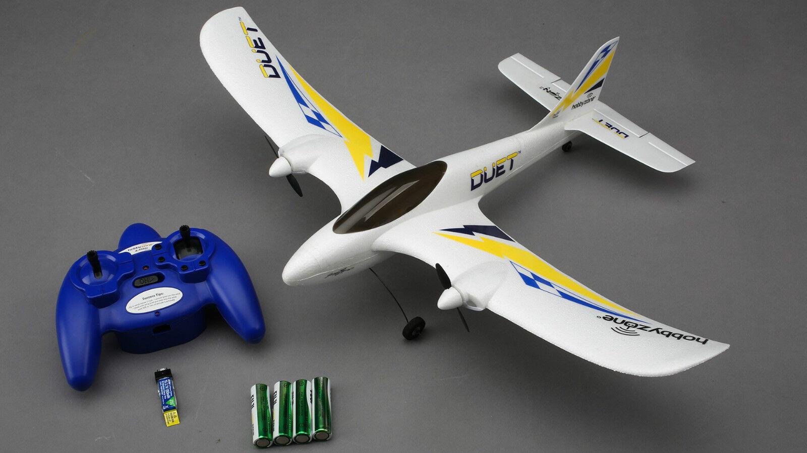 Horizon Hobbyzone Principiantes RTF Rc Modelo Avión   Duet   con 2,4Ghz, Motor,