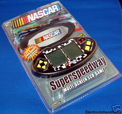 NASCAR SUPER SPEEDWAY 2 ELECTRONIC HANDHELD TECHNO SOURCE DRIVING RACING GAME
