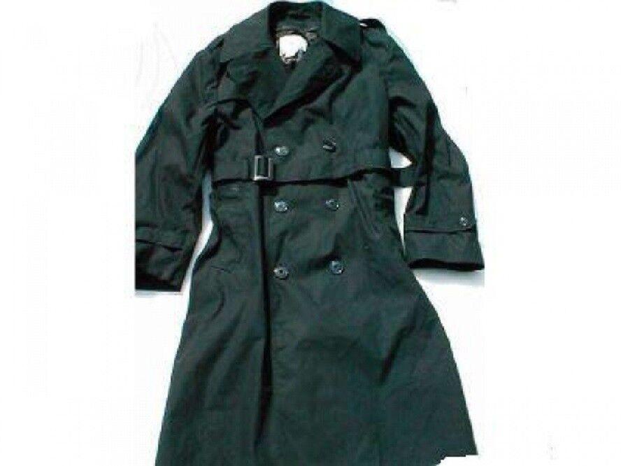 US ARMY GI Uniform Trenchcoat Militär Mantel schwarz USA 42L M/L Gr. 52 Lang