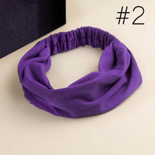 Damen Stirnband Hairband Yoga Elastic Hair Band Headwrap Haarschmuck Gifts