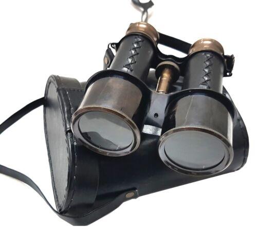 Nautical Brass Binocular Marine Antique Monocular With Leather Box