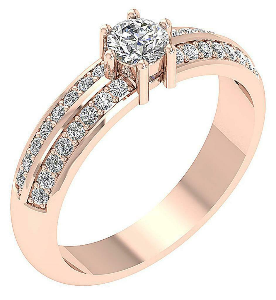 a9f845ffbdf0 SI1 G 0.75Ct Natural Diamond Anniversary Ring Appraisal pink gold 14K  Solitaire nrxddd2222-Diamond