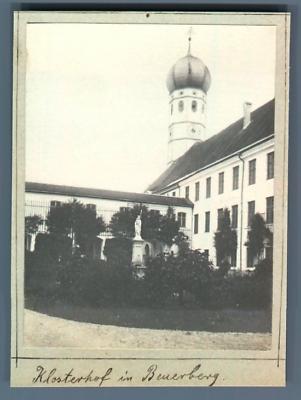 Deutschland, Klosterhof Im Beuerberg ( Eurasburg) Vintage Print. Bad Tölz-wolfr