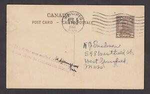 1941-Official-pictorial-postard-of-1932-used-at-Winnipeg-Handstamped-This-lett