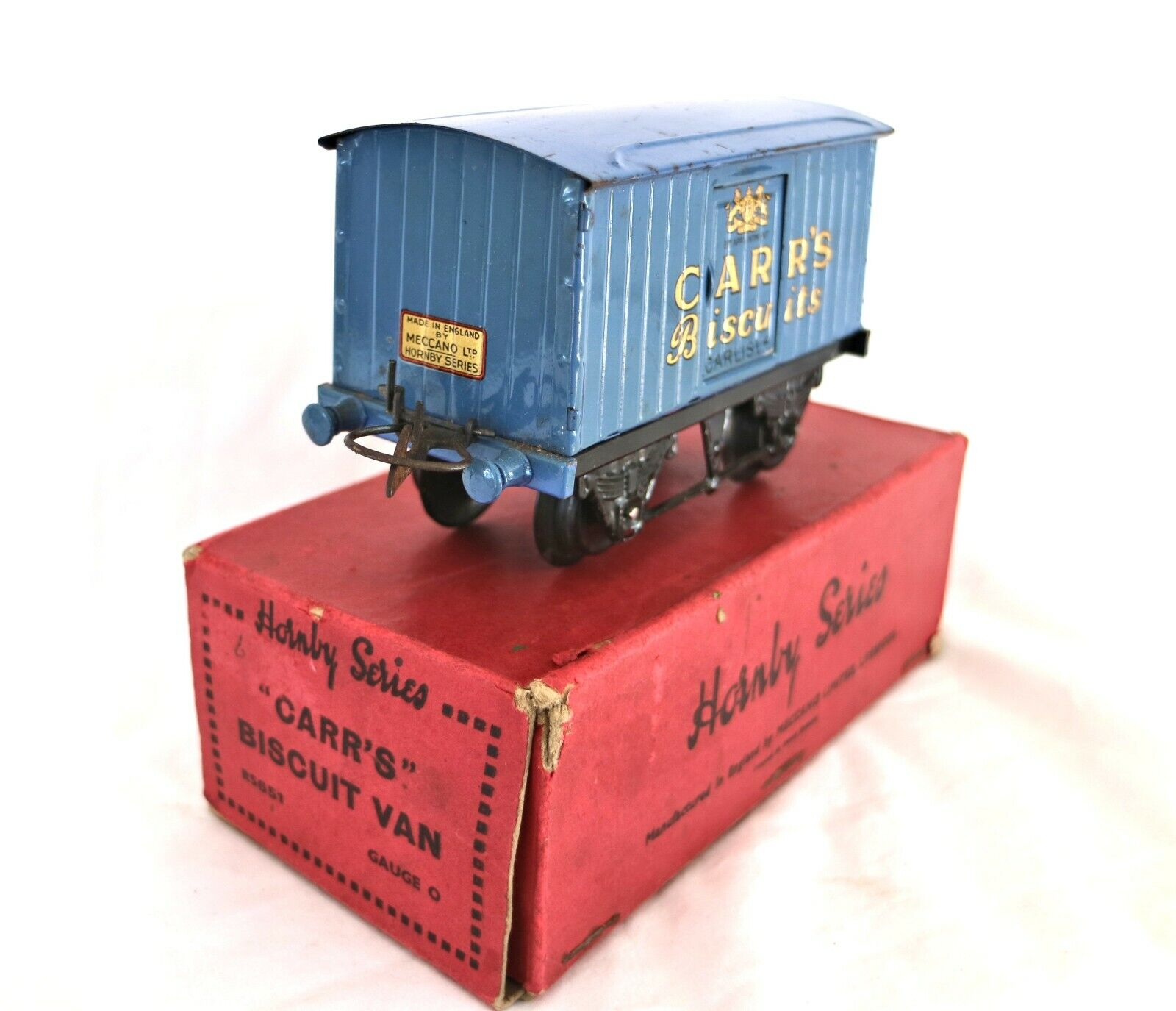 210J  Vintage Boxed Hornby O Gauge Carr's Biscuits Private Owner Van