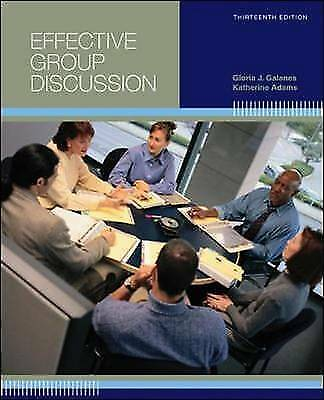 Effective Group Discussion by Galanes, Gloria J. -ExLibrary