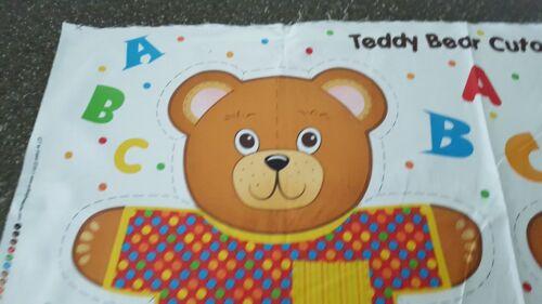 Teddy Bear Cutout Panel 23x42 Quilting Treasures