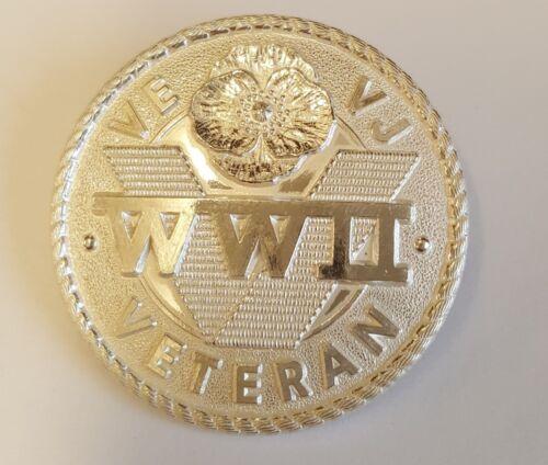 Veterans SILVER  Lapel Badge second world war