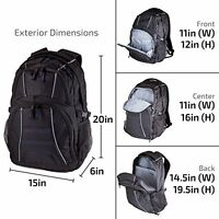 Computer Backpack For Laptops 17 Inch Water Resistant Bag Storage Compartments