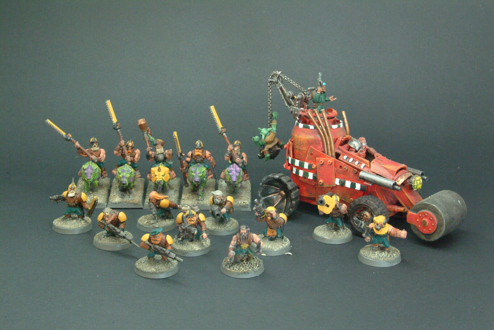 Squats Dwarf Warband Painted By TMC Team. Warhammer 40k   Gorkamorka