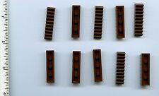 LEGO x 10 Classic Brown Technic, Gear Rack 1 x 4 NEW