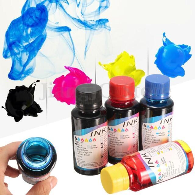 100ml Bottle Cartridge Refill ink Kit for Canon PG-640XL Brother HP Printer