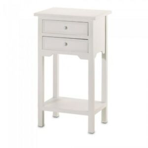 HOME-DECOR-WHITE-SIDE-TABLE-2-DRAWERS-AND-SHELF