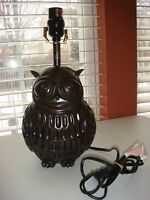 Owl Table Lamp - Brand New, Works
