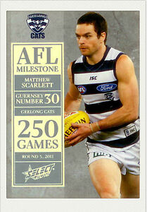 2012-Select-AFL-Champions-Milestone-Card-MG32-Andrew-Mackie-Geelong