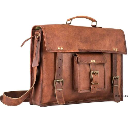 Mens Handgefertigte Vintage Aktentasche Weiche Travel Office Laptoptasche Leder Pq6HpP