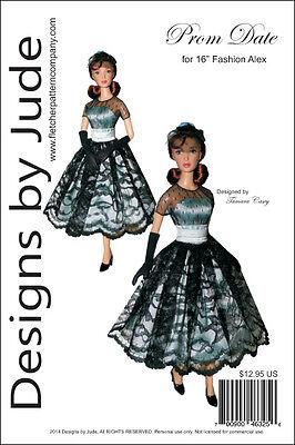 """Fashion Plate Doll Clothes Sewing Pattern 16/"""" Alex Fashion Dolls Alexander"""