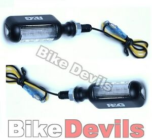 R-amp-G-motorcycle-black-aero-LED-type-micro-indicators-lights-front-or-rear-fitment
