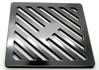 """9"""" Square Metal steel Gully Grid Heavy Duty Drain Cover like cast iron, stronger"""