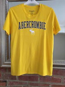 Abercrombie-Yellow-Kids-T-shirt-Age-15-16