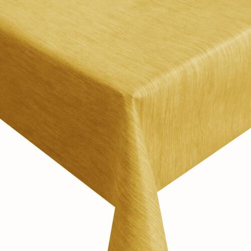 Toile Cirée robuste lin gravé par jaune orange largeur 140 cm nappe