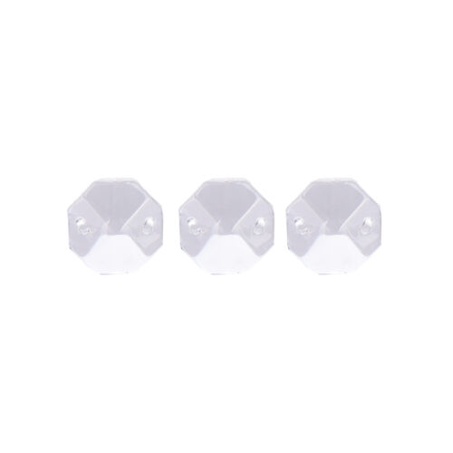 20 PCS  Crystal Glass Chandelier Part Prisms Octagonal Beads Decor 14MM RS