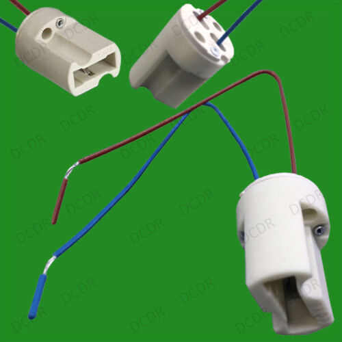 7x G9 Base Ceramic Lamp Holder Socket /& Cable Halogen LED Bulb Down Light etc