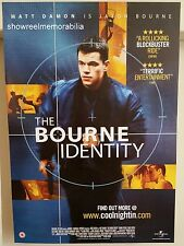 THE BOURNE IDENTITY 2002  Matt Damon Original Video Store Poster action thriller