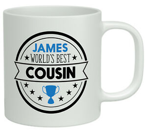Personalised-Any-Name-Worlds-Best-Cousin-White-10oz-Novelty-Gift-Mug-Cup