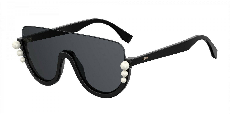 11683d6cc8e Fendi FF 0296 s 807 IR Sunglasses Black Frame Grey Lenses 99mm for ...