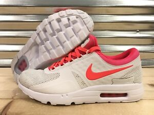 huge selection of ac165 9c3e0 Image is loading Nike-Air-Max-Zero-iD-Running-Shoes-White-