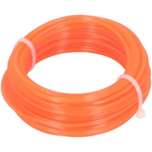 Trimmerschnur 15m Ø 1,6mm orange Trimmerfaden Mähfaden Trimmerfaden Rasentrimmer