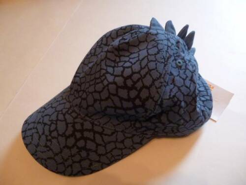 GYMBOREE Prepped For School Hat Cap Blue Dinosaur Print Spikes 3-4 and up NEW