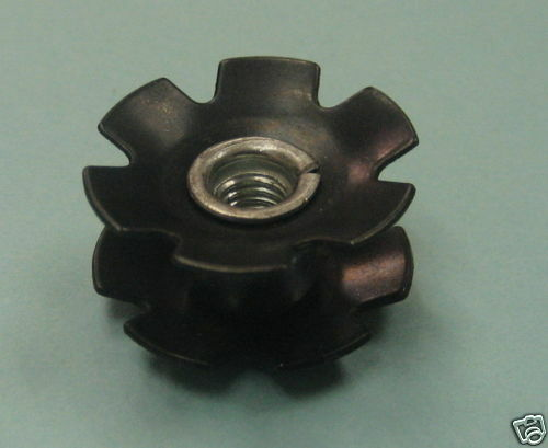 """Aheadset brand - 2 PACK 1/""""  inch Fork Star nut measures 22.2 mm"""