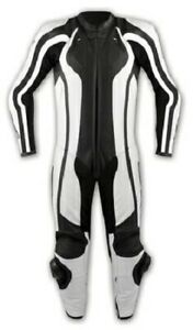 1 pc Motorcycle Apparel CE Armours Jacket Trouser Leather Suit A-Pro White