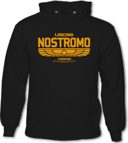 Nostromo Mens Sci-Fi Hoodie Aliens Film Retro Alien Movie
