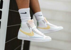 Details about Nike Blazer Mid '77 Shoes White Lemon Wash DC0959-100 Men's Size 12 NEW